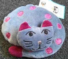 Jellycat London I am Cat nip Cat blue Purple polka dot Plush Soft toy 5  by 2  *