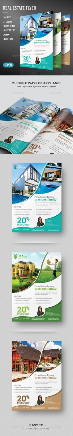 Real Estate Flyer Template + Real Estate Magazine Ad Design Template | Real…