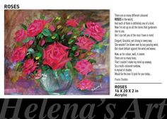 PAINTINGS AND POETRY Glass Vase, Poetry, Told You So, Paintings, Elegant, Rose, Color, Classy, Pink