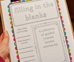 Grace is Overrated: Journal Pages Fill in the blank journal prompt printables. I'm going to use these in my SMASH book! Blank Journal, Journal Prompts, Journal Pages, Writing Prompts, Scrapbook Journal, Scripture Journal, Journals, Writing Ideas, Bullet Journal