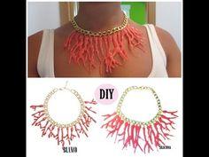 DIY collar coral de silicona (algas) - imitación al collar de Blanco