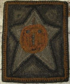 Primitive Rug Hooking Pattern-Star Jack by primitivejunky on Etsy - Fall Rugs - Ideas of Fall Rugs Penny Rugs, Rug Hooking Patterns, Rug Patterns, Primitive Crafts, Primitive Autumn, Primitive Country, Hand Hooked Rugs, Textiles, Wool Applique