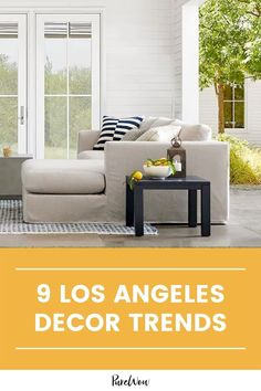 Los Angeles-based decorators are leading the way with indoor-outdoor living, natural textures and other laid-back beautiful elements, and they're spilling deets on the top home trends taking over the city this year. #homedecor #decor #trends Furniture Sale, Outdoor Furniture Sets, Indoor Outdoor Living, Outdoor Decor, Kitchen Desks, Big Desk, California Homes, Home Decor Trends, Cushions On Sofa