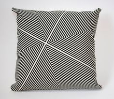 Four Corners HandPrinted Pillow Cover in Black and von AuRetour, $60.00