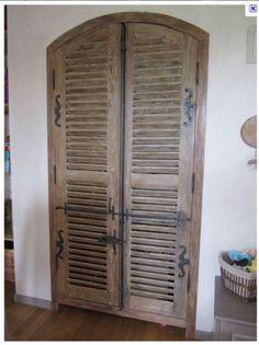 paravent bois vieilli 3 180x130 319 louvers can be. Black Bedroom Furniture Sets. Home Design Ideas