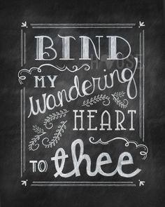 Wandering Heart Chalkboard Print