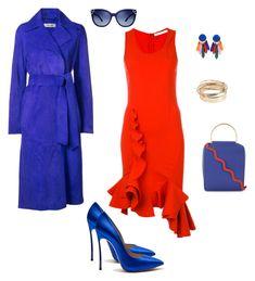 """Красное платье"" by tania-tatu ❤ liked on Polyvore featuring Givenchy, Diane Von Furstenberg, Roksanda, Tory Burch and Valentino"