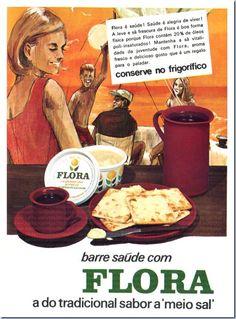 margarina flora Vintage Advertising Posters, Vintage Advertisements, Vintage Ads, Poster Ads, Old Ads, Vintage Recipes, Historical Photos, Travel Posters, Vintage Postcards