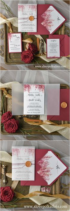 Wedding invitation with #heather #4lovepolkadots #weddingstationery #weddinginvitations #weddingtheme #burgundywedding #marsala #bride2018 #maroon #marsalawedding #bridetobe #weddinginvitations #invitationsuite