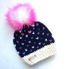 Pre-Order Psychedelic Pink Hearts – b. Kids Beanies, Kids Hats, Crochet For Kids, Knit Crochet, Sewing Patterns, Crochet Patterns, Pink Hearts, Holiday Fun, Lana