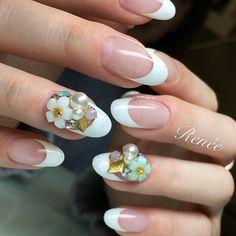 Nail artist Rie Nofuji 埜藤 理恵さんはInstagramを利用しています:「フレンチスタイル with Charmant♡ #charmantシャルマン #nail#nails#gelnails#nailart#ネイル#ジェルネイル#美甲#네일#젤네일#nailsalonrenee#ネイルサロンレネ」
