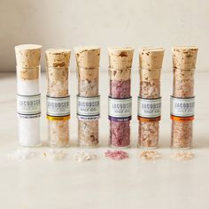 Six Salt Sampler- Jacobsen Salt Co. Kitchen Kit, Blue Apron, Original Recipe, Pillar Candles, Salt, Yummy Food, Gift Ideas, Bottle, Check
