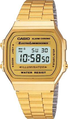 acf7f72a0b7 Casio Gold A168WG-9 Digital Alarm Unisex Watch A168   A168WG Eliminator  Light