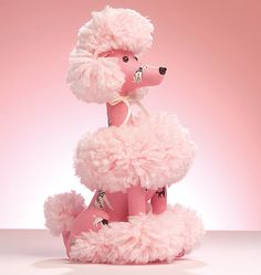 Poodle...This would look so cute in a black & white Paris striped room