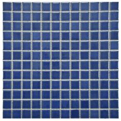 "Found it at Wayfair - Pool 1"" x 1"" Porcelain Mosaic Tile in Baltic"