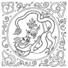 Мандала символ дракона