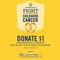 Auntie Anne's: Donate $1 to Alex's Lemonade Stand