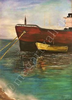 Artist: Rigatou Maria Title: anchorage 70x100dim oil painting 500euro Joomla Templates, Oil, Gallery, Artist, Painting, Painting Art, Paintings, Painted Canvas, Drawings
