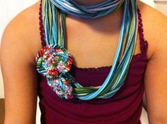 No Sew T-Shirt Scarf {Make it!} plus 2 other simple T-shirt Re-use Projects