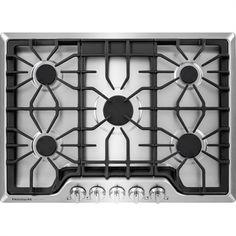 Frigidaire Gallery 30-in 5-Burner Gas Cooktop (Stainless Steel)