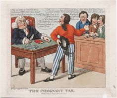 "Lewis Walpole Library Digital Collection ""The indignant tar Giles Grinagain"" ca. 1804 Image ID: 18th Century Fashion, 19th Century, Navy Uniforms, Sailor Outfits, Political Satire, Vintage Cartoon, Royal Navy, Historical Clothing, Image Collection"