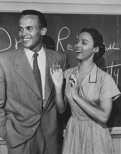 Harry Belafonte and Dorothy Dandridge