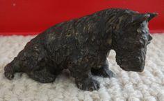 1920's Marguerite Kirmse bronze Scottish Terrier figurine.  See more on our ebay site at smidgen17.