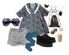 """57"" by mochineko ❤ liked on Polyvore featuring Levi's, Gerbe, Underground and Pieces"