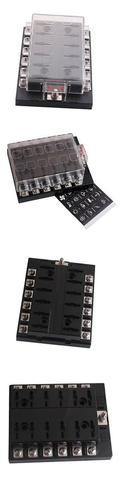 fuses and fuse holders knukonceptz 0 gauge in line waterproof anl fuses and fuse holders new dc32v 12 way terminals circuit atc ato car auto blade