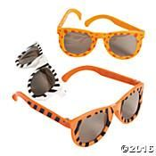 12 Jungle Safari Animals Print Kid Sunglasses- Great favors for a Daniel Tiger Party.