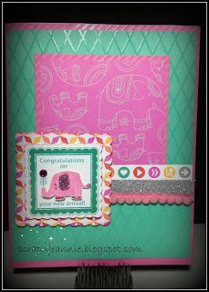 card by Jeannie Resnick using CTMH Dream Pop paper