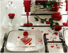 Ma table Saint-Valentin