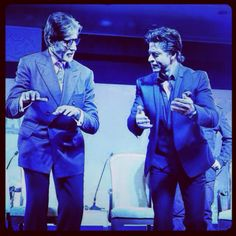 #Shahrukh #Khan & #Amitabh #Bachchan At NDTV Solutions www.bollywoodeye.co.uk #srk #shahrukhkhan #bollywood #bigb #bollywoodnews #bollywoodpics