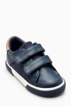 Navy Touch Strap Shoes (Younger Boys), 15euro, Next.