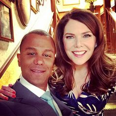 'First Day Back at the Inn': See the First Photo from the Set of the Gilmore Girls Revival| Gilmore Girls, Lauren Graham, Yanic Truesdale