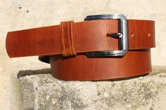 Your place to buy and sell all things handmade Tan Leather Belt, Leather Men, Header, Shoe Pattern, Brass Buckle, Vegetable Tanned Leather, Etsy Shop, Belt Buckles, Hand Made