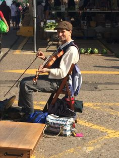 Musician at Minneapolis Farmers Market