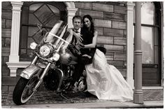 On the Harley  - Wedding Photography