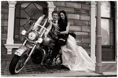 On the Harley  - Wedding Photography