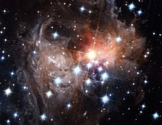 Variable star V838 Monocerotis lies near the edge of our Milky Way Galaxy, about 20,000 light-years from the Sun. Still,