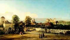 Bernardo Bellotto – Staatliche Kunstsammlungen Dresden Gal.-Nr. 621. Pirna mit dem Dohnaischen Tor (1754-1755)