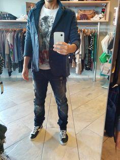 Jacket 40WEFT T-Shirt 40WEFT Jeans Fifty Four Shoes Diadora www.gekyskey.it