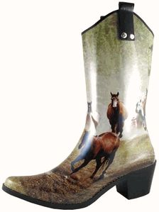 Running Horse Fashion Rubber Boots