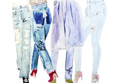 Inspired by Threads denim line-up. Illustration by Alexandra Constantine