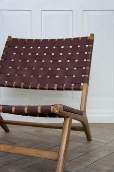 Holz & Leder Sessel, 1970er 6