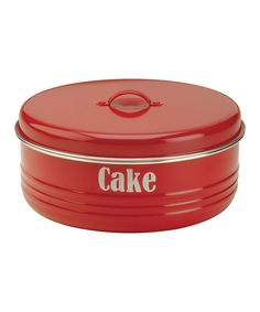 Look at this Red Vintage 'Cake' Tin on #zulily today!