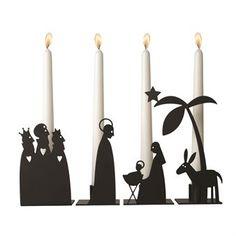 Kynttilänjalka, joka on hieno varjokuva Beetlehemin seimestä, on lähes pakollinen adventtikoriste.