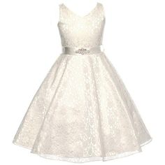 40.00$  Watch now - http://vimsb.justgood.pw/vig/item.php?t=8u1yja13485 - Ivory Sleeveless Lace V-Neck Flower Girl Pageant Birthday Wedding Formal Dress
