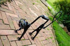ScareD Cat Yard Art Found Object Sculpture