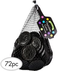 Black Chocolate Coins 72pc - Party City